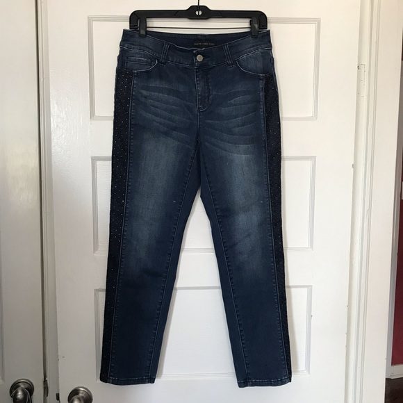 Black Label Pants - Black Label Dark Skinny Ankle Blue Jeans size 00